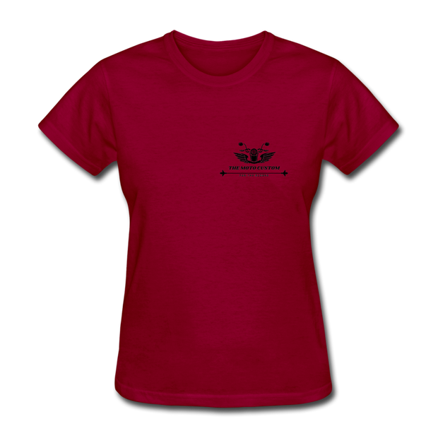 The Moto Custom Women T-Shirt - Biker Apparel for harley & caferacer riders