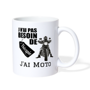 J'ai Moto Thérapie Coffee/Tea Mug - Biker Apparel and Gears for harley & caferacer riders