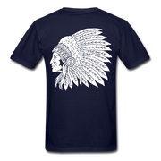 Red Indian Biker T-shirt men - Biker Apparel for harley & caferacer riders