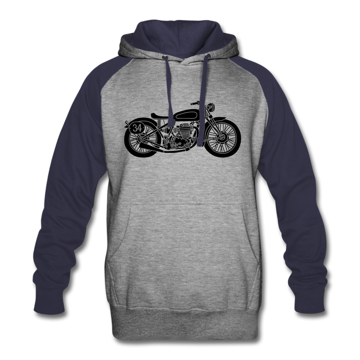 Vintage Biker Colorblock Hoodie - Biker Apparel and Gears for harley & caferacer riders