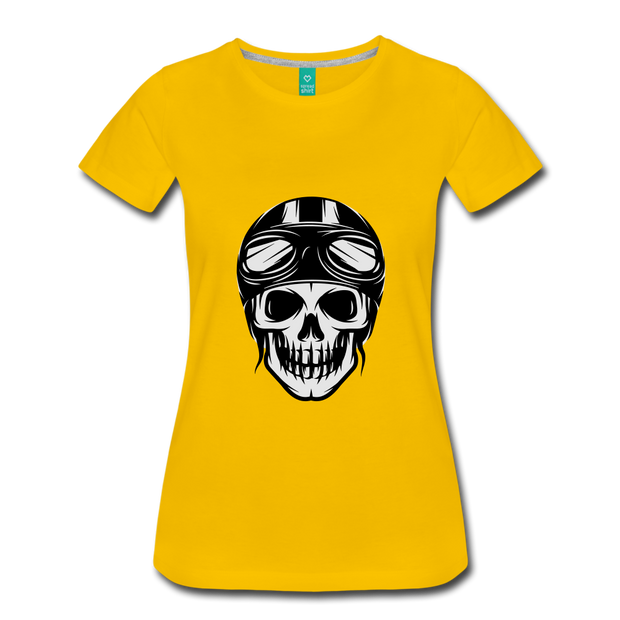 Biker Outlaw Skull T-shirt Women - Biker Apparel for harley & caferacer riders