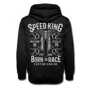 Biker Born To Race Shawl Collar Hoodie - Biker Apparel and Gears for harley & caferacer riders