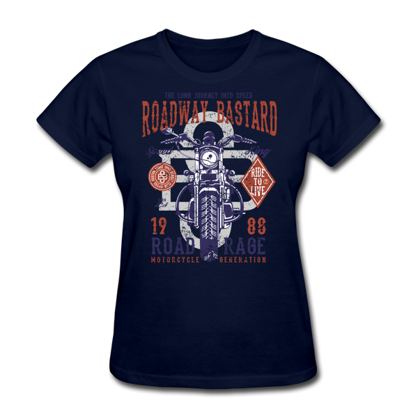 Roadway Bastard Women's T-Shirt - Biker Apparel and Gears for harley & caferacer riders