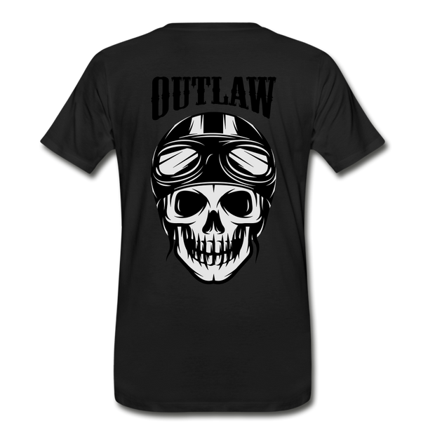 Biker Outlaw Skull T-shirt Men - Biker Apparel for harley & caferacer riders