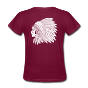 Red Indian Biker T-shirt Women - Biker Apparel for harley & caferacer riders