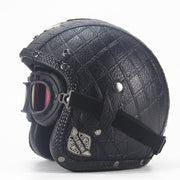 Eagle Helmet - Check Black - Biker Apparel and Gears for harley & caferacer riders
