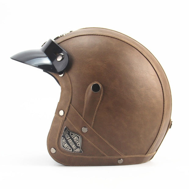 Light Eagle Helmet - Brown - Biker Apparel and Gears for harley & caferacer riders
