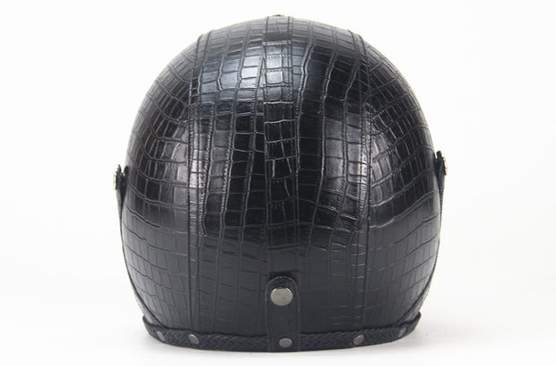 Light Eagle Helmet - Scaled Black - Biker Apparel and Gears for harley & caferacer riders