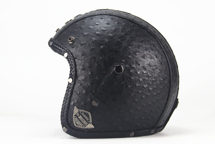 Light Eagle Helmet - Rustic Black - Biker Apparel and Gears for harley & caferacer riders