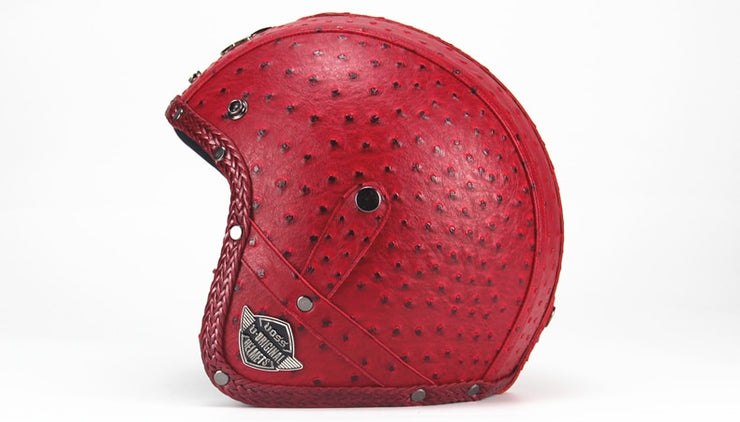 Light Eagle Helmet - Red - Biker Apparel and Gears for harley & caferacer riders