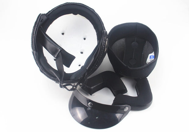 Full Eagle Helmet - All Black - Biker Apparel and Gears for harley & caferacer riders