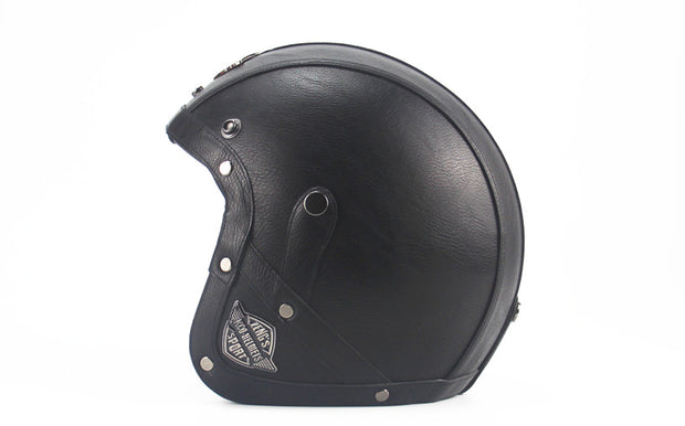 Light Eagle Helmet - All Black - Biker Apparel and Gears for harley & caferacer riders