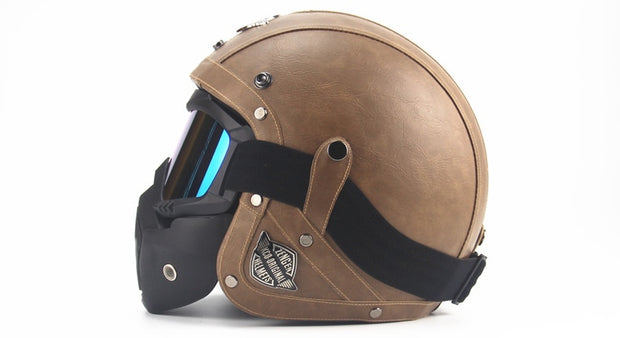 Full Eagle Helmet - Brown - Biker Apparel and Gears for harley & caferacer riders