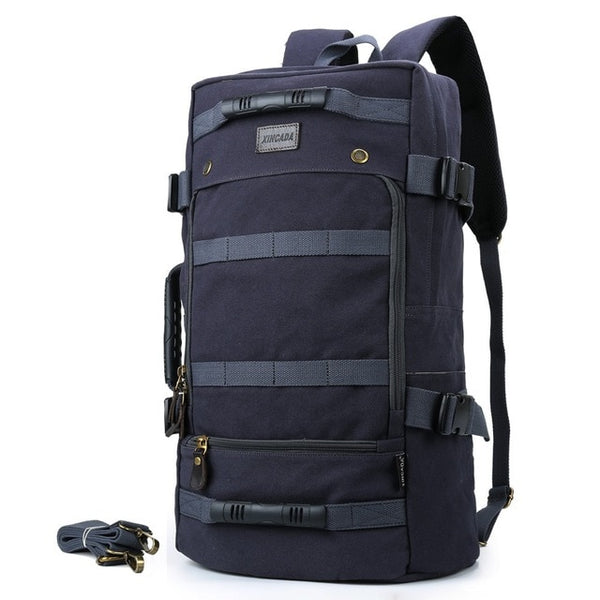Empire Long Travel Canvas Backpack - Biker Apparel and Gears for harley & caferacer riders