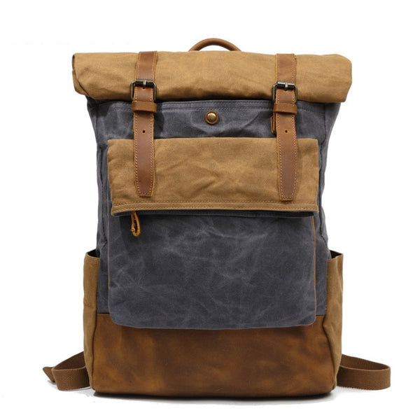 Empire Canvas Urban Retro Backpack - Biker Apparel and Gears for harley & caferacer riders