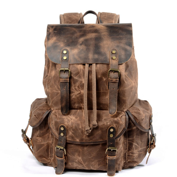 Empire Vintage Canvas Urban Backpack - Biker Apparel and Gears for harley & caferacer riders