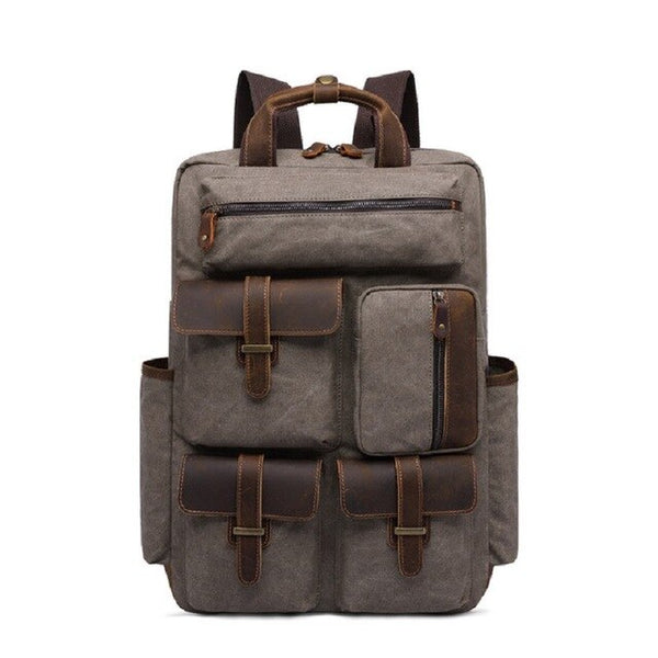 Empire All-round Canvas Retro Backpack - Biker Apparel and Gears for harley & caferacer riders