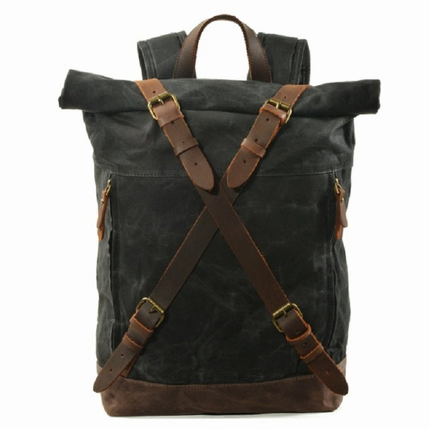 Empire All-Imperium Canvas Retro Backpack - Biker Apparel and Gears for harley & caferacer riders