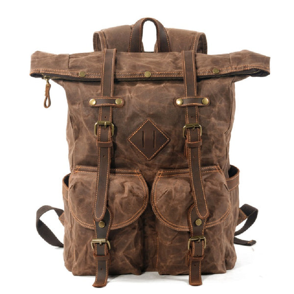 Empire Vintage Canvas Biker Backpack - Biker Apparel and Gears for harley & caferacer riders