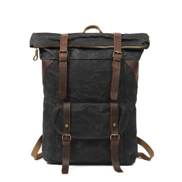 Empire Pure Urban Canvas Backpack - Biker Apparel and Gears for harley & caferacer riders