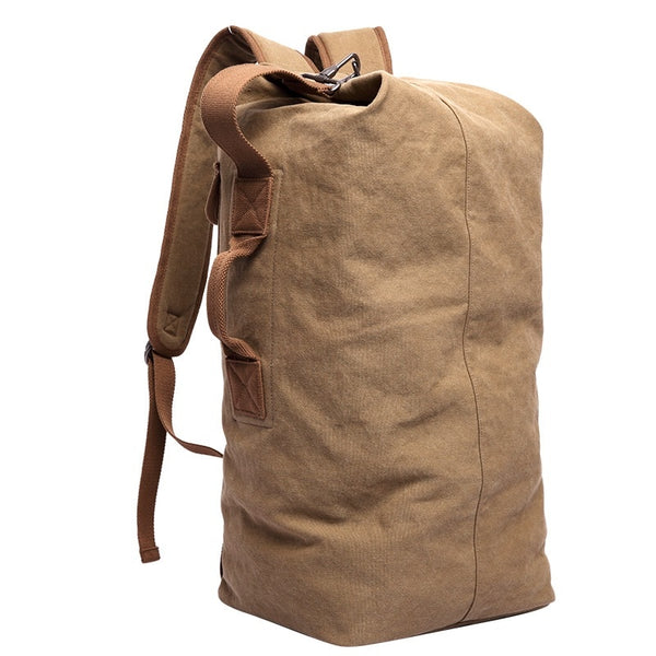 Empire Vintage All-Timer Canvas Backpack - Biker Apparel and Gears for harley & caferacer riders
