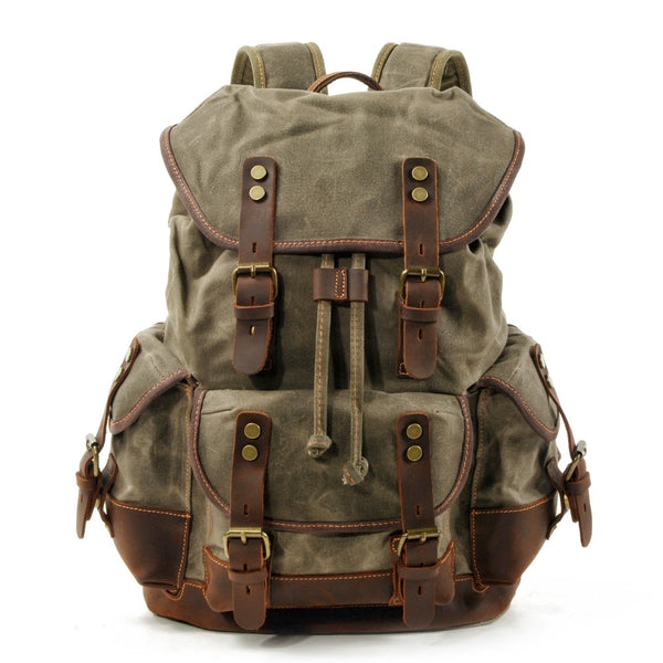 Empire Canvas Urban Backpack - Biker Apparel and Gears for harley & caferacer riders