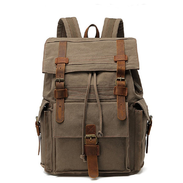 Empire Vintage + Modern Biker Canvas Backpack - Biker Apparel and Gears for harley & caferacer riders