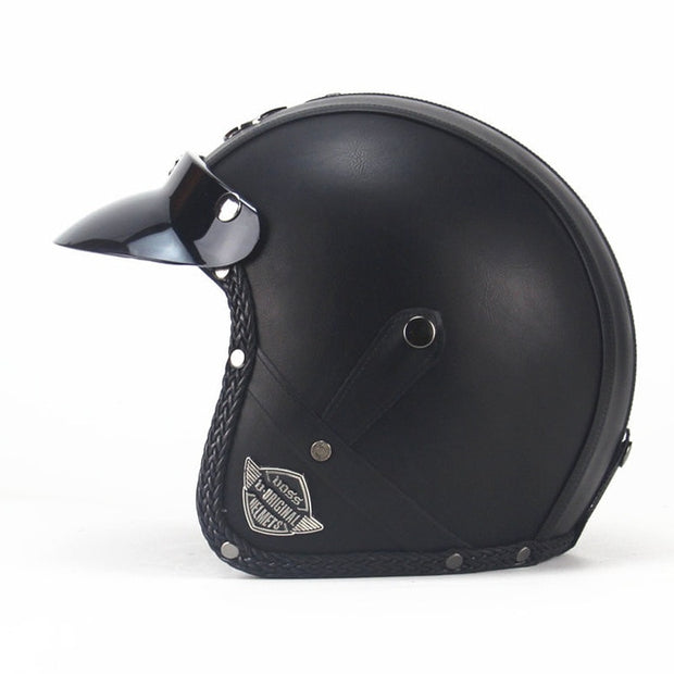Light Eagle Helmet - Classic Black - Biker Apparel and Gears for harley & caferacer riders