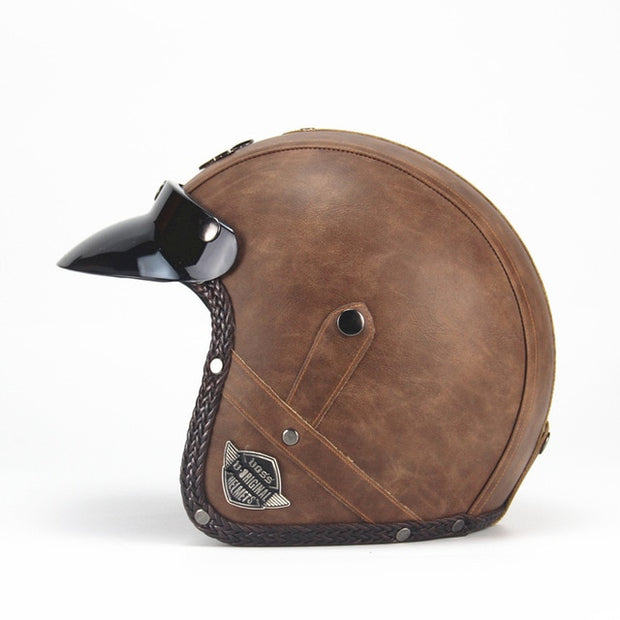 Light Eagle Helmet - Old Brown - Biker Apparel and Gears for harley & caferacer riders