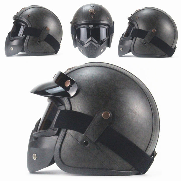 Full Eagle Helmet - Dark Gray - Biker Apparel and Gears for harley & caferacer riders