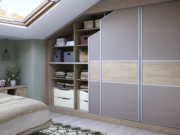 Custom Angled Sliding wardrobe doors