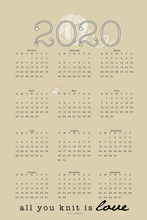 Load image into Gallery viewer, pale gold knit tea towel