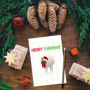 Merry Yarnmas Printable Greeting Card