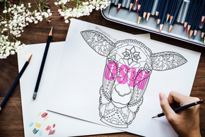 Printable Sheep Adult Coloring Page