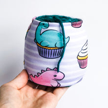 Load image into Gallery viewer, Cupcake Dinos Sheep Squeezer Yarn Sock