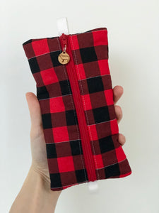 Buffalo Plaid Notions Pouch