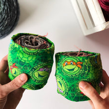 Load image into Gallery viewer, Turtles Sheep Squeezettes Two at a Time Yarn Socks