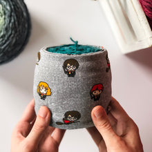 Load image into Gallery viewer, Chibi Wizards Sheep Squeezer Yarn Sock