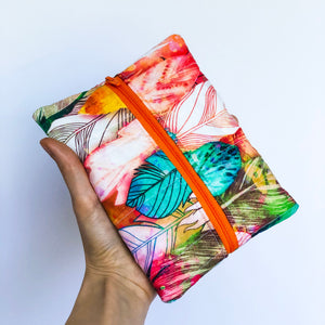 Feathers Quilted Notions Pouch