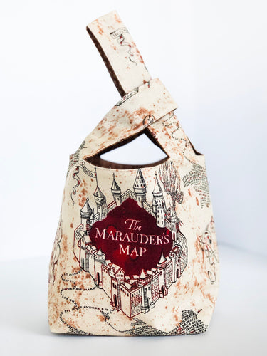 *Preorder* Marauder's Map Japanese Knot Bag