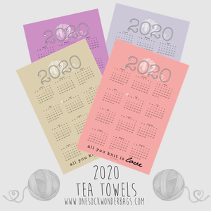 "2020 ""All You Knit Is Love"" Tea Towel"