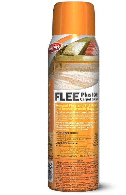 Flee Plus IGR Carpet Spray - 16 Ounces