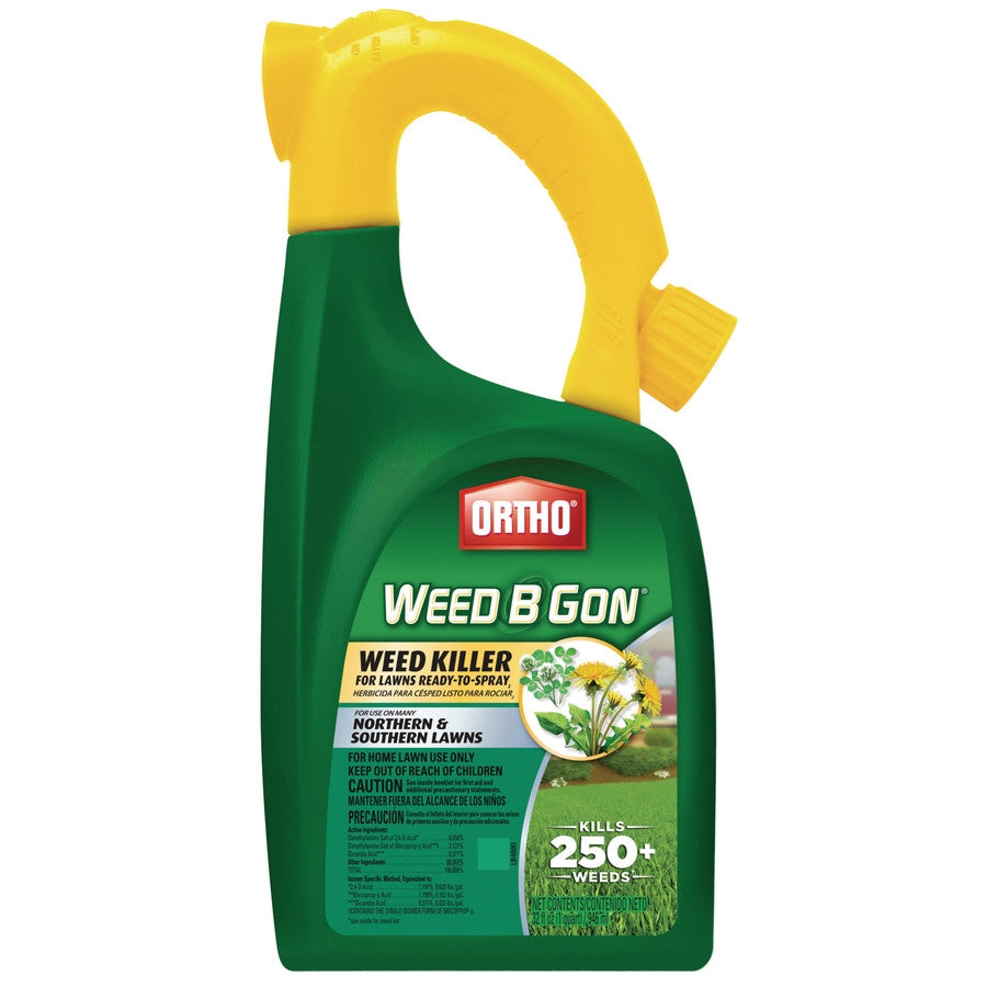 Ortho Weed-B-Gon Northern and Southern Lawn Weed Killer (Hose-End) - 1 Qt.