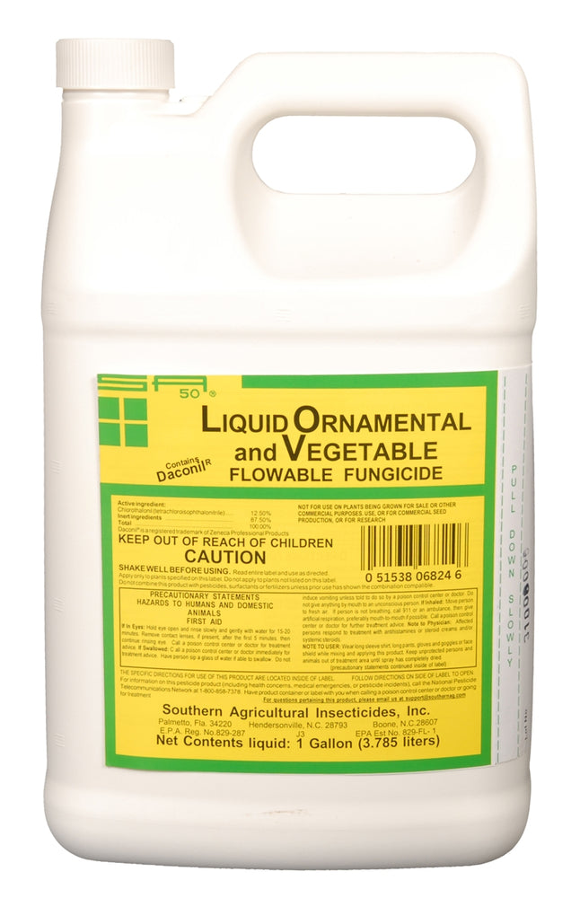 Liquid Ornamental & Vegetable Fungicide (Contains Daconil) - 1 Gallon