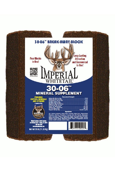 Imperial Whitetail 30-06 Break-Away Mineral Supplement Block - 25 Lbs.