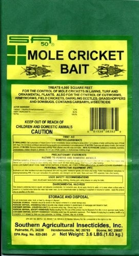 Mole Cricket Bait (5% Carbaryl) - 3.6 Lbs.