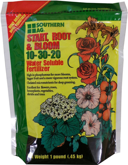 Start, Root, and Bloom 10-30-20 Soluble Fertilizer - 1 Lb.