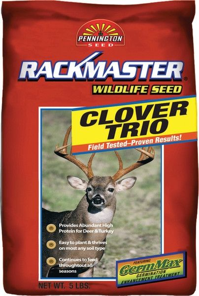 Rackmaster Clover Trio Food Plot Seed - 5 Lbs