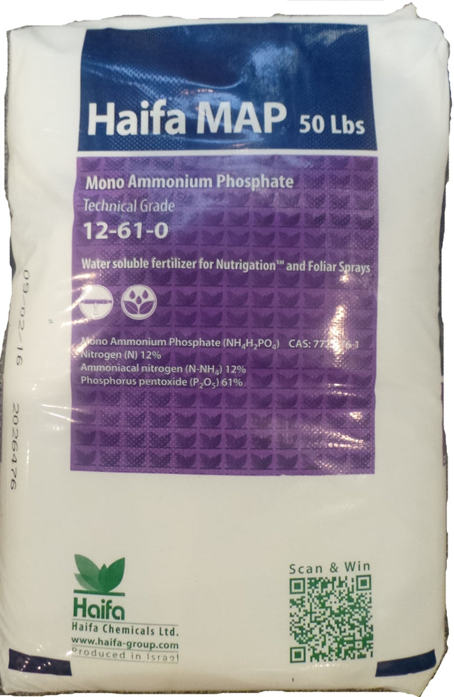 Monoammonium Phosphate 12-61-0 (Water Soluble) - 25 Lbs