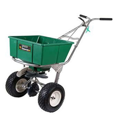 Lesco High Wheel Fertilizer Spreader w/ Manual Deflector 80 Lb. Hopper #101186